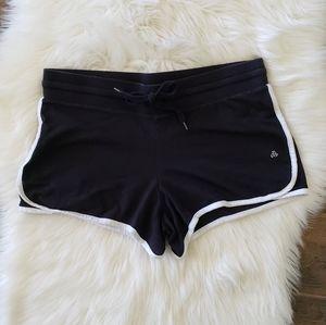 B2G1 Jockey Black/White Cotton Drawstring Shorts